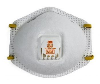 3M 8511 N95 Particulate Respirator Mask with CoolFlow Valve, Box of 10
