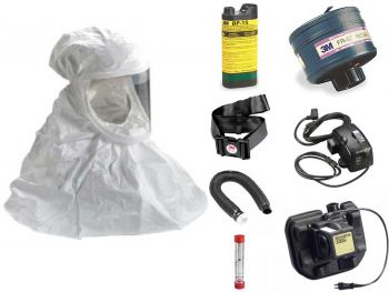 Tychem QC Hood Powered Air Purifying Respirator System - with NiMH Battery & Battery Charger