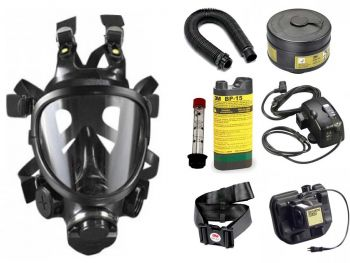 CBRN Facepiece Powered Air Purifying Respirator System - with NiMH Battery & Battery Charger