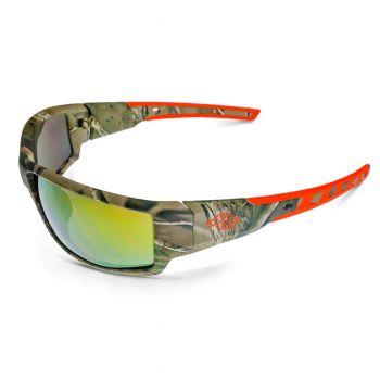 Radians Crossfire Cumulus Gold Mirror, Camo Frame Safety Glasses Camo 12 PR/Box