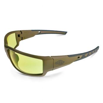 Radians Crossfire Cumulus HD Yellow, Tan SDE Frame Safety Glasses Tan SDE 12 PR/Box