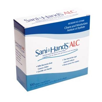 PDI Sani Hands ALC Hand Wipes (Box of 100)