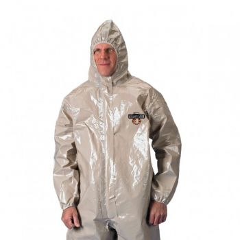 ChemMax 4 Coverall - Respirator Fit Hood & Boots - Tan