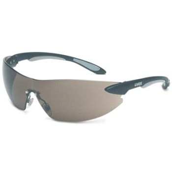 Uvex Ignite Safety Glasses - Black Temples, Gray Lens