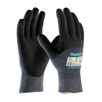 PIP 44-3755/S ATG Seamless Knit Engineered Yarn Glove with Premium Nitrile Coated MicroFoam Grip on Palm, Fingers & Knuckles Small 6 DZ