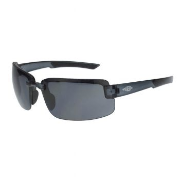Radians Crossfire ES6 Smoke,  Black Frame Safety Glasses  Black 12 PR/BoxRAD447104-N