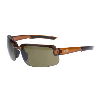 Radians Crossfire ES6 HD Brown, Brown Frame Safety Glasses 12 PR/Box