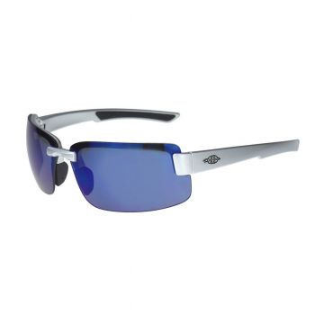 Radians 442208 Crossfire ES6 Blue Mirror, Safety Glasses Half Frame Style 12 Pairs / Box