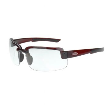 Radians Crossfire ES6 Clear, Red Frame Safety Glasses Red 12 PR/Box