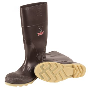 """Better Grade Boot Brown Upper Crepe Sole Ht. 15"""" Steel Toe Cleated Outsole"""