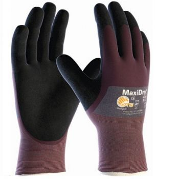 PIP 56-425/M ATG Ultra Lightweight Nitrile Glove, 3/4 Dipped with Seamless Knit Nylon / Lycra Liner and Non Slip Grip on Palm & Fingers Medium 6 DZ