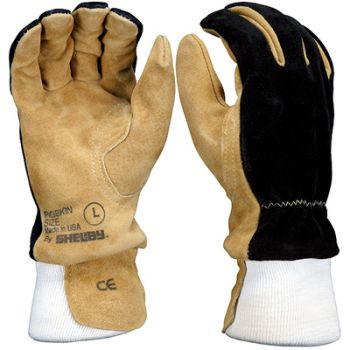 Shelby Pigskin Wildland Fire Gloves, Wristlet | 5002 (6 Pairs)