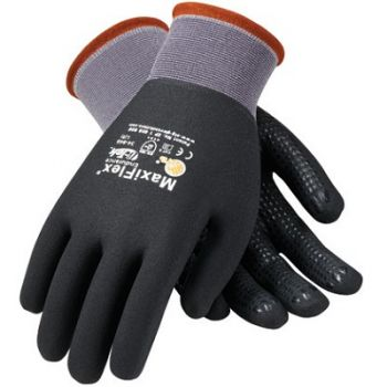 PIP 34-846/S ATG Seamless Knit Nylon Glove with Nitrile Coated MicroFoam Grip on Full Hand Micro Dot Palm Small 12 DZ