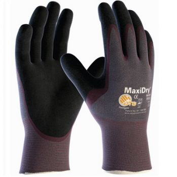 PIP 56-424/L ATG Ultra Lightweight Nitrile Glove, Palm Dipped with Seamless Knit Nylon / Lycra Liner and Non Slip Grip on Palm & Fingers Large 6 DZ