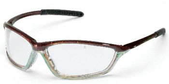 Shock Safety Glasses with Chameleon/Clear Chrome Frame and Clear Anti-Fog Lens