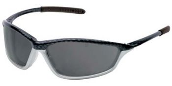 Shock Safety Glasses with Carbon/1236 Frame and Grey Anti-Fog Lens