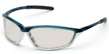 Shock Safety Glasses with Blue/1236 Frame and Indoor/Outdoor Lens
