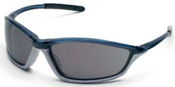 Shock Safety Glasses with Blue/1236 Frame and Grey Anti-Fog Lens