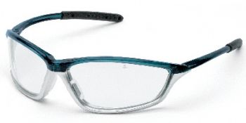 Shock Safety Glasses with Blue/1236 Frame and Clear Anti-Fog Lens