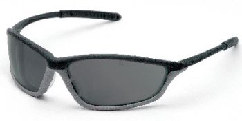 Shock Safety Glasses with Black/Grey Frame and Grey Anti-Fog Lens