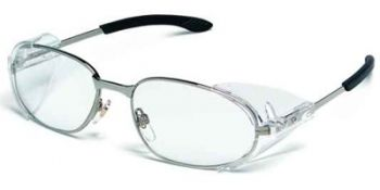 MCR RATTLER 2 Safety Glasses with Chrome Frame and Clear Lens 12 Pairs