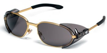RATTLER 2 Safety Glasses with Brass Frame and Grey Lens