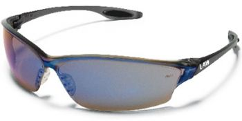 Law2 Safety Glasses with Blue Mirror Lens