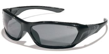 ForceFlex Safety Glasses with Black Frame and Grey Lens