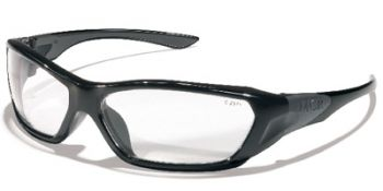 ForceFlex Safety Glasses with Black Frame and Clear Lens 12 Pairs