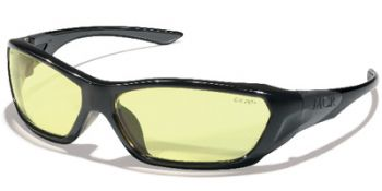 ForceFlex Safety Glasses with Black Frame and Amber Lens