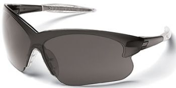 Deuce Small Safety Glasses with Smoke Temples and 1236 Mirror Lens