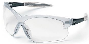 Deuce Small Safety Glasses with Smoke Temples and Clear Lens