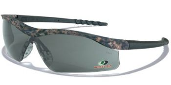 Dallas Safety Glasses with Mossy Oak Camo Frame and Grey Lens