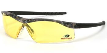 Dallas Safety Glasses with Mossy Oak Camo Frame and Amber Lens