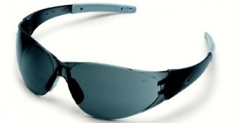 Checkmate 2 Safety Glasses with Smoke Temples and Grey Lens