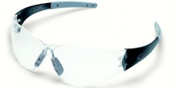 Checkmate 2 Safety Glasses with Smoke Temples and Clear Lens