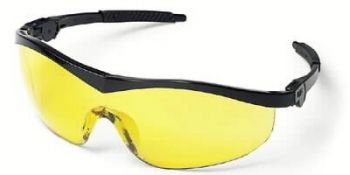 Storm Safety Glasses with Black Frame and Amber Lens