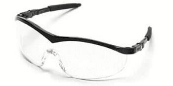 Storm Safety Glasses with Black Frame and Clear Lens