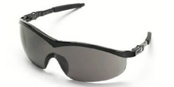 Storm Safety Glasses with Black Frame and Grey Lens