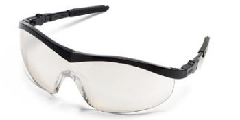 Storm Safety Glasses with Black Frame and Indoor/Outdoor Lens
