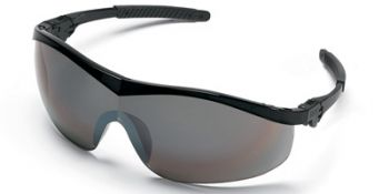 Storm Safety Glasses with Black Frame and 1236 Mirror Lens