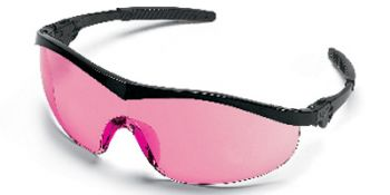 Storm Safety Glasses with Black Frame and Vermillion Lens