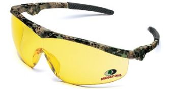 Storm Safety Glasses with Mossy Oak Camo Frame and Amber Lens