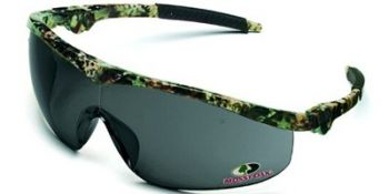 Storm Safety Glasses with Mossy Oak Camo Frame and Grey Lens