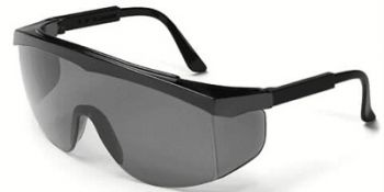 Stratos Safety Glasses with Black Frame and Grey Lens