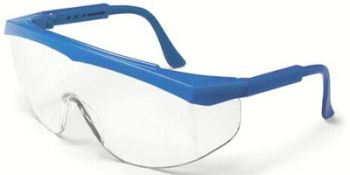 Stratos Safety Glasses with Blue Frame and Clear Lens (1 Dozen)