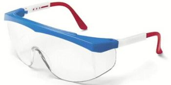 Stratos Safety Glasses with RWB Frame and Clear Lens