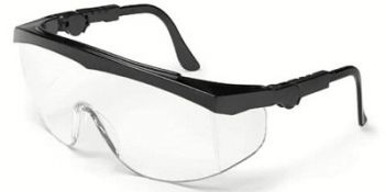 Tomahawk Safety Glasses with Black Frame and Clear Anti-Fog Lens