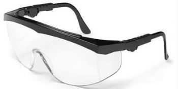 Tomahawk Safety Glasses with Black Frame and Clear Lens