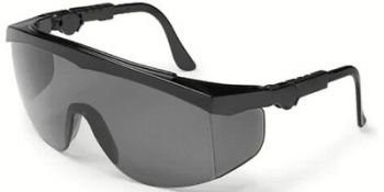 Tomahawk Safety Glasses with Black Frame and Grey Lens